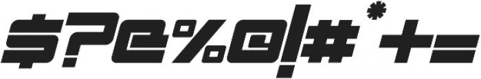 Spac3 - Tech v17 - Italic Italic otf (400) Font OTHER CHARS