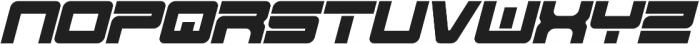 Spac3 - Tech v17 - Italic Italic otf (400) Font UPPERCASE