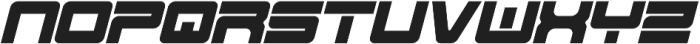 Spac3 - Tech v17 - Italic Italic otf (400) Font LOWERCASE