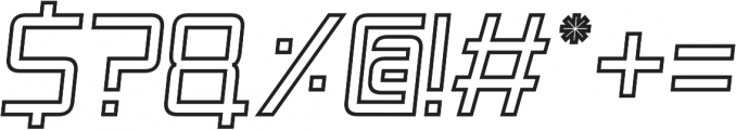 SpaceAge Outline-Italic otf (400) Font OTHER CHARS