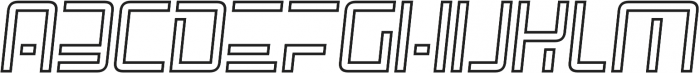 SpaceAge Outline-Italic otf (400) Font UPPERCASE