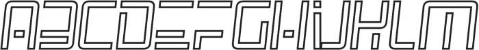 SpaceAge Outline-Italic otf (400) Font LOWERCASE
