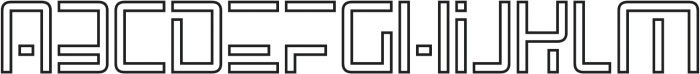 SpaceAge Outline otf (400) Font LOWERCASE