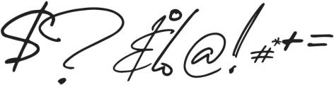 Spanish Signature Regular otf (400) Font OTHER CHARS