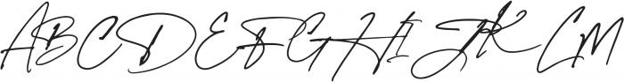 Spanish Signature Regular otf (400) Font UPPERCASE