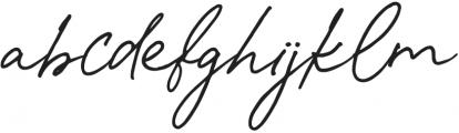 Spanish Signature Regular otf (400) Font LOWERCASE