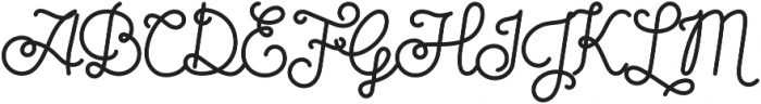 Sparkle Script otf (400) Font UPPERCASE