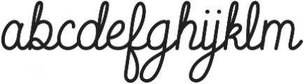 Sparkle Script otf (400) Font LOWERCASE