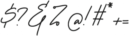 Sparkling Bright Signature otf (400) Font OTHER CHARS