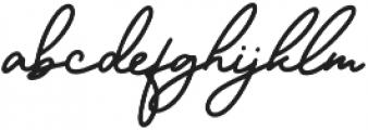 Sparkling Bright Signature otf (400) Font LOWERCASE