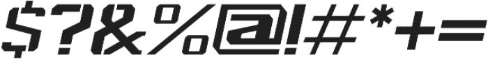 Spartan Stencil Light Italic otf (300) Font OTHER CHARS