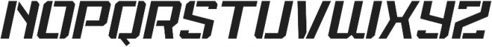 Spartan Stencil Light Italic otf (300) Font UPPERCASE