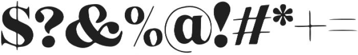Speakeasy Regular otf (400) Font OTHER CHARS