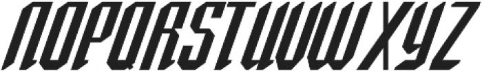 Spearhead Italic otf (400) Font UPPERCASE