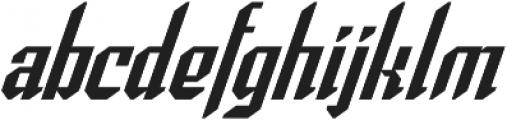 Spearhead Italic otf (400) Font LOWERCASE