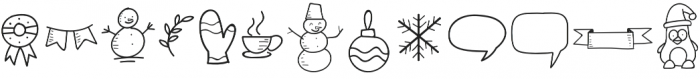 Special Winter Doodle otf (400) Font UPPERCASE