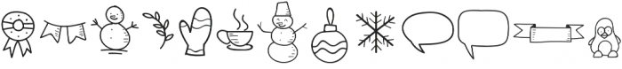 Special Winter Doodle otf (400) Font LOWERCASE