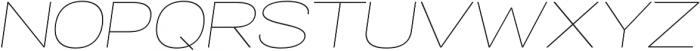 Specify Expanded otf (100) Font UPPERCASE