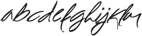 Spectacular Script otf (400) Font LOWERCASE