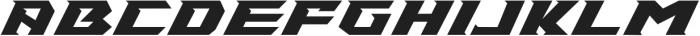 Speed Racer ttf (400) Font UPPERCASE