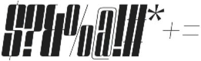 Speedometer 500I otf (500) Font OTHER CHARS