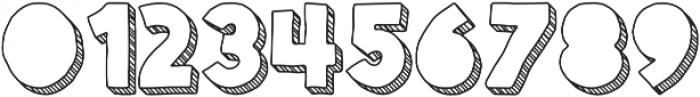 Spellbound 3D Blind Stripes otf (400) Font OTHER CHARS