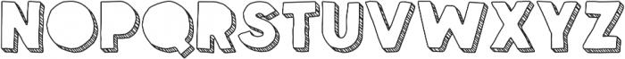 Spellbound 3D Blind Stripes otf (400) Font LOWERCASE