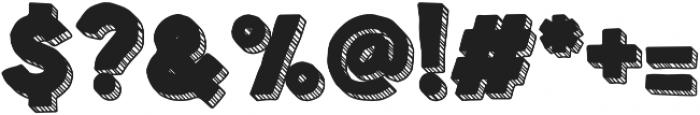 Spellbound 3D Stripes Positive otf (400) Font OTHER CHARS