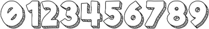 Spellbound 3D Stripes otf (400) Font OTHER CHARS