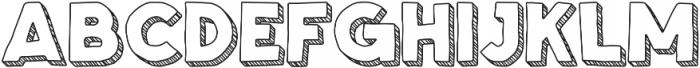 Spellbound 3D Stripes otf (400) Font UPPERCASE