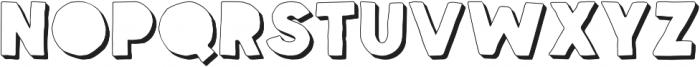 Spellbound Blind Extrudes otf (400) Font UPPERCASE