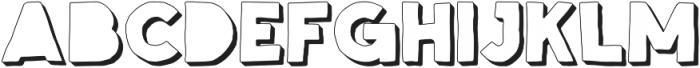 Spellbound Blind Extrudes otf (400) Font LOWERCASE