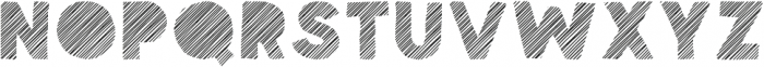 Spellbound Blind Stripes otf (400) Font UPPERCASE