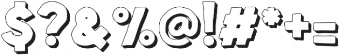 Spellbound Extrudes otf (400) Font OTHER CHARS