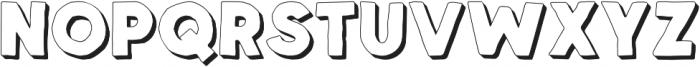 Spellbound Extrudes otf (400) Font UPPERCASE