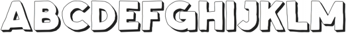 Spellbound Extrudes otf (400) Font LOWERCASE
