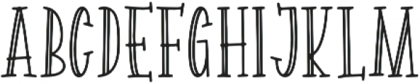 Spellbound Hollow otf (400) Font LOWERCASE