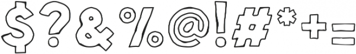 Spellbound Outline otf (400) Font OTHER CHARS