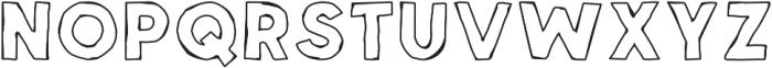 Spellbound Outline otf (400) Font UPPERCASE