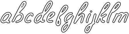 Spirit of Montana outline_update otf (400) Font LOWERCASE