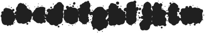 SplasherWhiteFill Regular otf (400) Font LOWERCASE