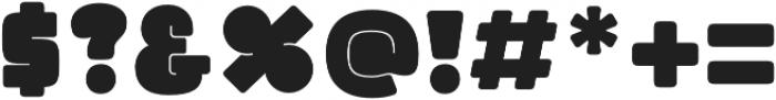Split Filled otf (400) Font OTHER CHARS