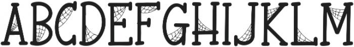 Spooky Webbie otf (400) Font UPPERCASE