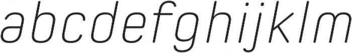 Spoon Extra Light Italic otf (200) Font LOWERCASE