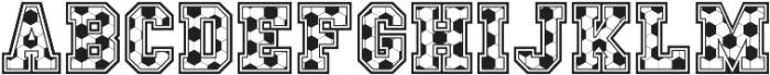 Sport Champs Soccer otf (400) Font LOWERCASE