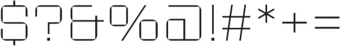 Sporty Pro Thin otf (100) Font OTHER CHARS
