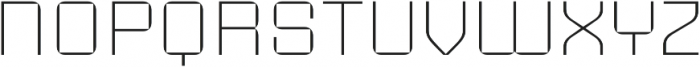Sporty Pro Thin otf (100) Font UPPERCASE