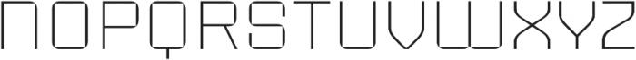 Sporty Pro Thin otf (100) Font LOWERCASE