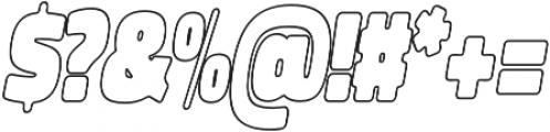 Spot Outline Italic otf (400) Font OTHER CHARS