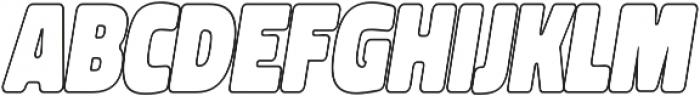 Spot Outline Italic otf (400) Font LOWERCASE